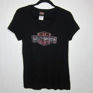 Harley-Davidson Embellished T-Shirt Size Large